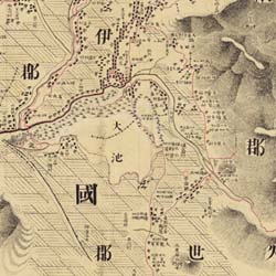 彩色見本(一部分)(第133図山城 河内・摂津)(彩色前)